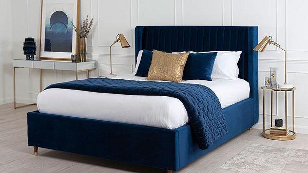 Giường ngủ màu xanh