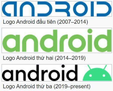 Logo Android qua các thời kỳ