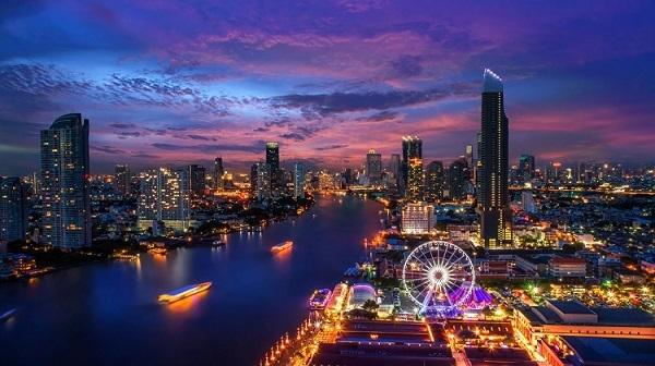 Cảnh về đêm ở Bangkok