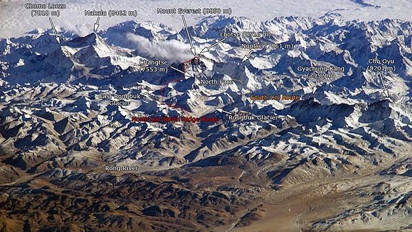 Everest nhìn từ Trạm Vũ trụ Quốc tế