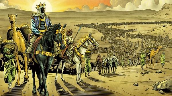 Mansa Musa và đoàn người đi qua Ai Cập