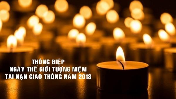 thông điệp ngày thế giới tưởng niệm tai nạn giao thông năm 2018